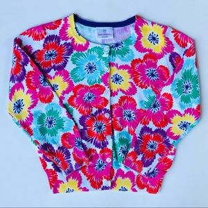 Hanna Andersson Colorful Flowered Button Sweater